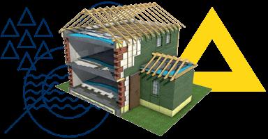 Hő-, hang- és vízszigetelő anyagok